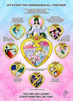 Sailor Moon Fights the Corona Virus! Please share : sailormoon Sailor Moons, Sailor Moon Manga, Watch Sailor Moon, Sailor Moon Drops, Sailor Moon Fan Art, Sailor Moon Kristall, Moon Logo, Manga Books, Girls Series