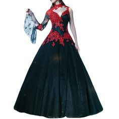 """LinSposa Black and Red High Neck One Shouler Prom Dresses 2016 Long Sexy DMH64. Imported.Made in China . Notice:Please Select the Size According to Our Size Chart Image on the Top Left . If you need a custom made size,pls check the Product Description part and give us the measurements shows there . Estimated Delivery is set automatically,Need 10 days for processing, 5 days for shipping. Search """"LinSposa"""" above for more products. Any other questions, feel free contact us."""