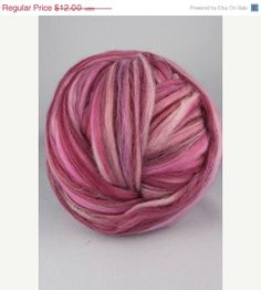 SALE 4 oz Merino wool roving multicolour19 by DivinityFibers, $11.40