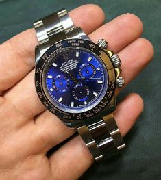 Rolex Daytona with Steel Blue Dial.