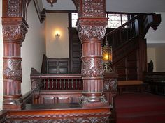 My room was the 'waiting room' where visitors waited. It was 85 a week. Sorg Mansion entry