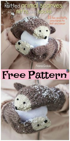Hedgehog Mittens - Free Pattern These knit hedgehog mittens are super cute, and since winter is coming, these mittens will keep your hands super warm,and also will be a great present. Crochet Giraffe Pattern, Knitted Mittens Pattern, Crochet Mittens, Baby Knitting Patterns, How To Start Knitting, Knitting For Kids, Free Knitting, Toddler Mittens, Baby Mittens