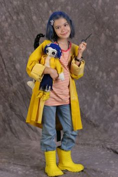 Coraline Halloween costume idea