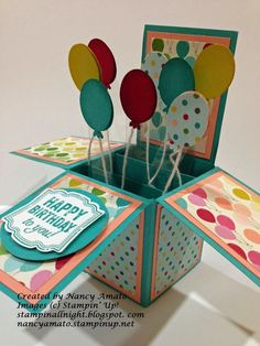 I first saw these cute Cards In A Box on Pinterest and I just had to give them a try! A Stampin' Up! demonstrator from the UK, Monica Gale, posted this idea in late December, and this idea has spread