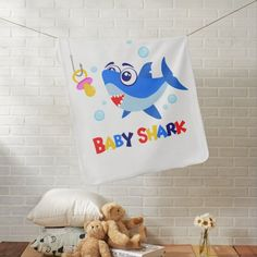 Baby Shark Baby Blanket Soft Baby Blankets, Baby Shark, Organizing Your Home, Consumer Products, Cool Patterns, Gifts For Dad, Your Child, Art Pieces, Reusable Tote Bags