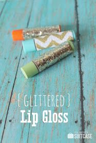 Be Different...Act Normal: Glittered Chapstick Favors