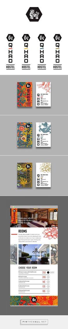 The branding and logo of the Q Hao Hostel by Pavel Cherkalin | Hostel Branding | Hostel advertising | Hostel Visual Identity | Illustrative brand | Creative Advertising | Menu Inspiration | Illustration | Hostel Graphic Design | Ideas Logo | Hospitality Branding | Brand Design | Creative Hostel | Hostel Logo | Hospitality logo | Hotel Logo | Hotel Design | Hotel Branding