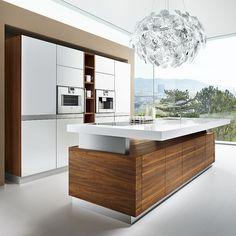 haus w. - offene, moderne küche mit kochinsel und essbereich ... - Kochinsel