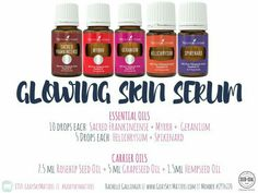 Skin serum with essential oils