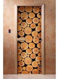 Дверь для бани и сауны с фотопечатью А043, DoorWood Firewood, Texture, Crafts, Surface Finish, Woodburning, Manualidades, Handmade Crafts, Craft, Arts And Crafts