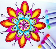 Mandala Coloring Book: A Printed Book of 23 Hand-Drawn Mandalas to Color, by Thaneeya McArdle