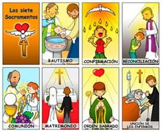 The 7 Sacraments 7 Sacraments, Catholic Sacraments, Catholic Catechism, Catholic Religious Education, Catholic Crafts, Catholic Kids, Teaching Religion, Religion Catolica, Church Activities