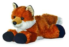 "Aurora Foxie Fox Mini Flopsie 8"" Stuffed Animal Plush - Toys 4 My Kids"