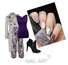 """nail"" by amanda-pixley-sanchez ❤ liked on Polyvore featuring Burberry, Temperley London and Mixit"