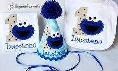 cookie monster party hats | cookie monster birthday party, cookie monster hat, cookie moster bib ...