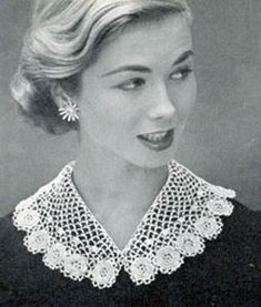 Free crochet collar patterns free crochet patterns crochet irish crocheted collar looks complicated but this could be a necklace for a strapless spring dress pattern through free vintage dt1010fo
