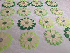 Handmade  20 paper flowers  scrapbooking  by PaperCraftingByMandy, $4.99