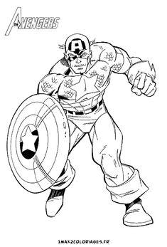 Colorier Captain America 236