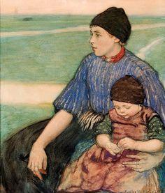 Mother And Child, Volendam, Charles W. Bartlett (1860 – 1940, English)