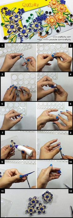 Find step by step instructions on How to make this beautiful and easy Quilling Flower Card. Easy Paper Quilling instructions for beginners.