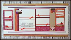 (pin 2 of 6 )... (pages 3 & 4) layout by Susan Williams using CTMH Sangria paper... her SANGRIA Workshop is 12 pages plus 12 cards with cutting files