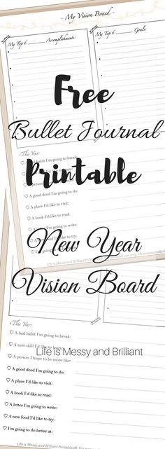 New Year Vision Board Printable
