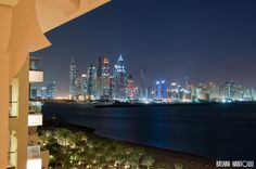 A view of Dubai Marina from my hotel balcony in Fairmont - The Palm