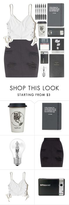 """🥀"" by galactictraveler ❤ liked on Polyvore featuring Natural Life, Topshop, Osram, Hollister Co., Sharpie, Polaroid, Smythson and blackandwhite"