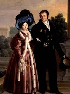 María Cristina de Borbóny Fernando VII PINTOR: Luis Cruz Ríos