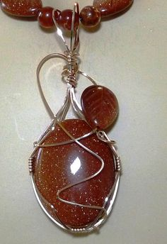 RESERVED GoldStone Pendant  14K Rolled Gold by HealingGemsMinerals, $48.00
