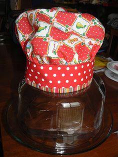 CurlyPops: Tutorial - Como fazer um chapéu dos cozinheiros chefe para o seu Masterchef brotamento