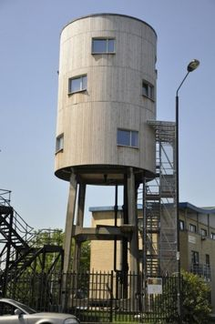 Old Water Tower is Recycled into a New House. This one is in London but, I remember a similar project in Long Beach, CA that was just as impressive 15 years ago.