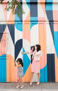Oh Joy / Photos by Casey Brodley ***Pinned by Design Gossip*** Murals Street Art, Art Mural, Wall Murals, Wall Art, Graffiti, Wall Colors, Colours, Pintura Exterior, Public Art