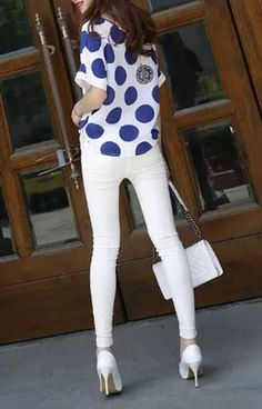 Blue Polka Dot T-Shirt