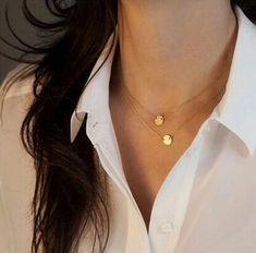 Большой Моды Ключицы Цепи Ожерелье Двойной Металлические Диски, многослойные Ожерелье Женщин Ювелирные Изделия Оптом И В Розницу