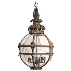 Antique Globe Lantern   From a unique collection of antique and modern lanterns at http://www.1stdibs.com/furniture/lighting/lanterns/
