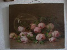 Antique Rose Oil Painting