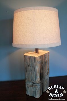 Wood lamp. You CAN make this!!