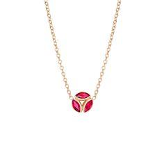 #MelissaKayeJewelry Hazel #necklace in #18k yellow #gold with orange #sapphire #jewelry #finejewelry #yellowgold #orangesapphire #fashion #style