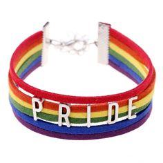 """PRIDE""leather bracelet"