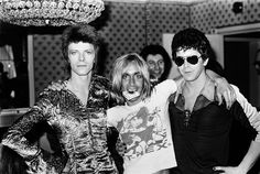 With David Bowie and Iggy Pop — the Dorchester, London, July 16, 1972. Photo by Mick Rock.
