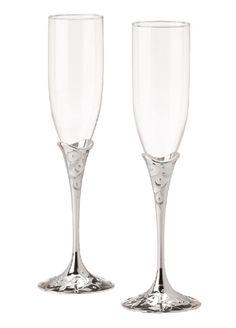 wedding toasting flutes