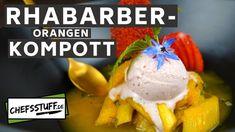 Rhabarber-Kompott einkochen - Rezept von Chefsstuff.de Ice Cream, Eggs, Breakfast, Desserts, Food, Canning, Yummy Ice Cream, Side Dishes, Food Portions