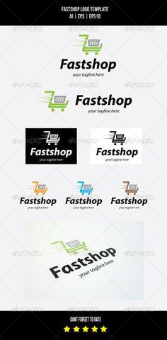 Fast Shop Logo Template by Romaa Roma, via Behance