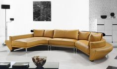 Vig Furniture VG2T0510-M-HL Divani Casa Jupiter - Contemporary Leather Sectional Sofa | Outlety