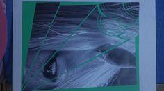 la imaguen muestra cortes circulares y perpendiculares dejando como punto de tención la c aida hacia el rostro del caballo.