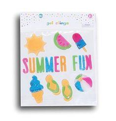 Summer Theme ''Summer Fun'' Gel Window Clings - 30 Piece