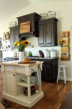 Our Fall Home Tour on Country Living! - The Wood Grain Cottage---fabulous cabinet color.
