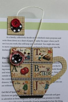 Paper Crafted Teacup Bookmark in Vintage by TheGreenDoorCottage, $3.25