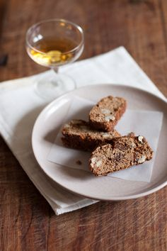 chestnut biscotti with vin santo (recipe from @Emiko Davies)
